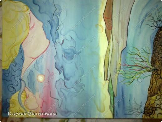птичка-синичка,выложена из пшена,расписана маслянными красками) фото 4