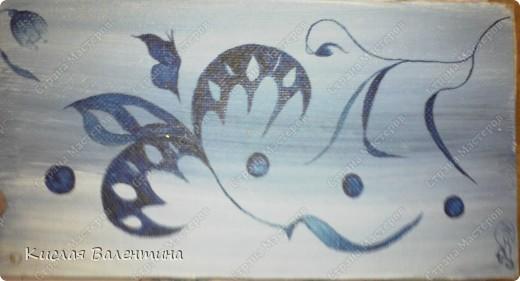 птичка-синичка,выложена из пшена,расписана маслянными красками) фото 2