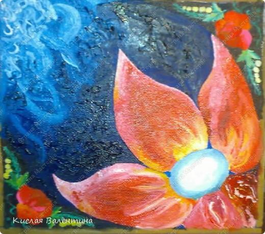 птичка-синичка,выложена из пшена,расписана маслянными красками) фото 5