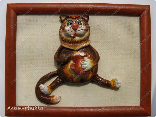 Это мои первые котики, сделаны из самозатвердевающей массы, насмотрелась на работы Марины Архиповой (спасибо ей большое !!!!!!)  фото 4