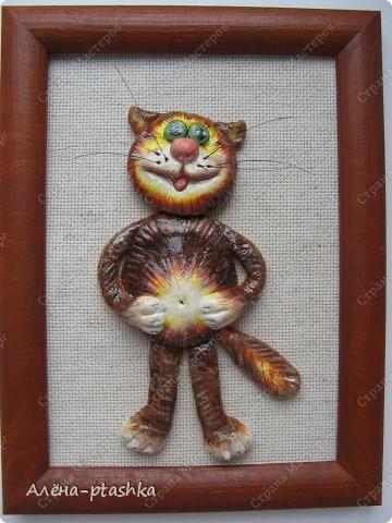 Это мои первые котики, сделаны из самозатвердевающей массы, насмотрелась на работы Марины Архиповой (спасибо ей большое !!!!!!)  фото 5
