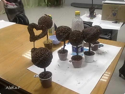 Доброе время суток! Хочу рассказать о втором моем МК, на этот раз мы делали кофейные деревья. МК прошел очень увлекательно и весело, все остались очень довольны своими работами и после того как мы все сделали еще долго не расходились и каждый любовался работами других. Через две недельки у меня будет новый МК по бутылочкам-несыпушкам, обязательно расскажу:))) фото 13