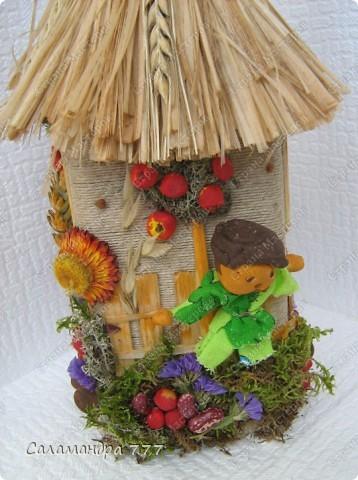 """...(  http://stranamasterov.ru/node/213545  ) мы идем на школьную выставку """"Природа и фантазия"""" не с пустыми руками! Вот такие домики-хатки мы изготовили с  сыном. фото 6"""
