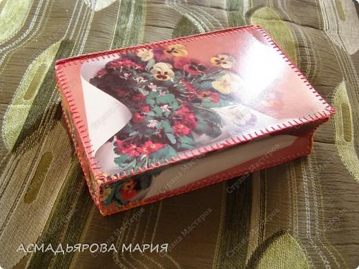 шкатулка книжка из открыток . фото 1