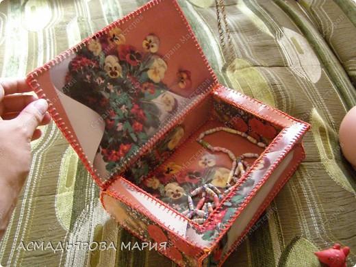 шкатулка книжка из открыток . фото 2