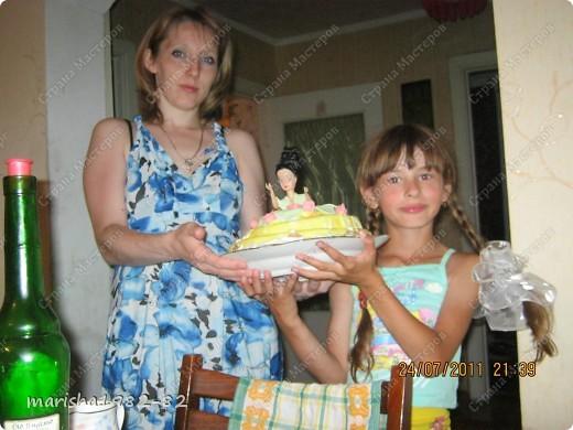 Тортик на День рожденье мужу!!! Спасибо мастерицам за идею тортика!!! Извините, я не помню у кого видела такой тортик. Но большое вам спасибо, очень уж тортик всем понравился! фото 2