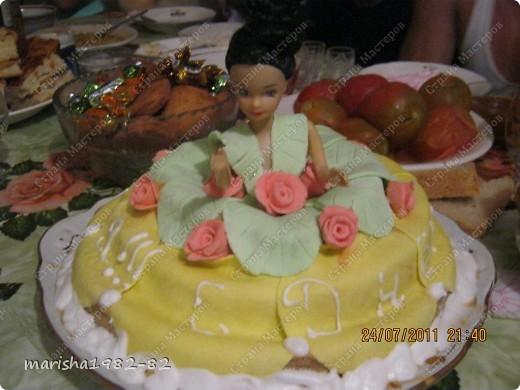 Тортик на День рожденье мужу!!! Спасибо мастерицам за идею тортика!!! Извините, я не помню у кого видела такой тортик. Но большое вам спасибо, очень уж тортик всем понравился! фото 3
