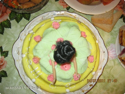Тортик на День рожденье мужу!!! Спасибо мастерицам за идею тортика!!! Извините, я не помню у кого видела такой тортик. Но большое вам спасибо, очень уж тортик всем понравился! фото 4