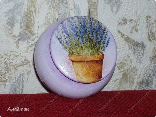 """Набор """"Лаванды аромат"""" Основа - стекло, деверо, салфетки 2-х видов, акриловые краски, пастель фото 8"""