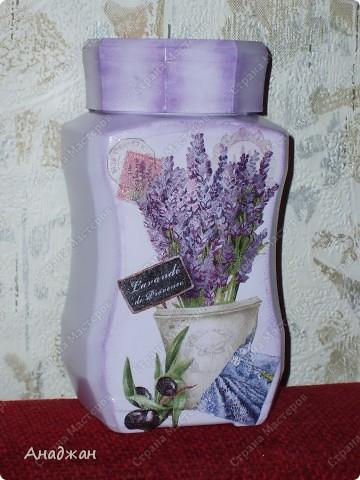"""Набор """"Лаванды аромат"""" Основа - стекло, деверо, салфетки 2-х видов, акриловые краски, пастель фото 3"""