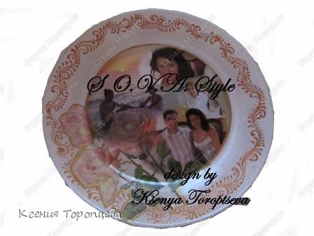 По случаю 50- летия мамы захотелось создать что-то необычное напамять и практичное! Вот получились тарелочки с обратным декупажем+ контур по стеклу.Из них можно кушать! фото 4