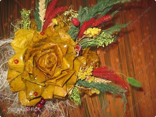 букетики из кленовых листьев фото 5
