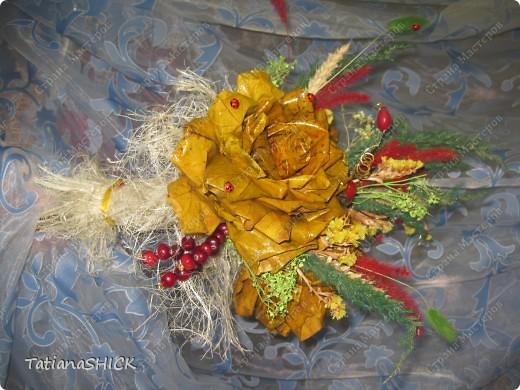 букетики из кленовых листьев фото 4
