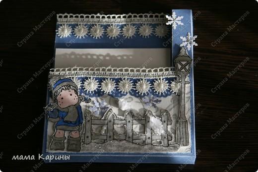 Очень понравились коробочки у жительницы страны Железовой Натальи Николаевны https://stranamasterov.ru/node/260317?c=favorite. Решила сповторюшничать, но сделать с новогодней тематикой...вот что вышло... фото 5