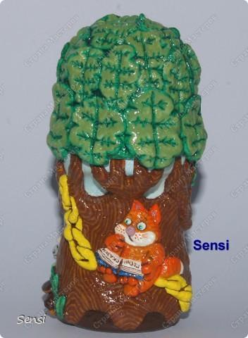 У лукоморья дуб зелёный поделки