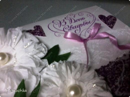 Эту открыточку мы делали вместе с моей коллегой по работе для ее сестры на годовщину свадьбы! фото 2