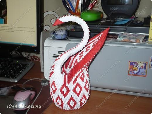 Лебедь с большим хвостом ... фото 2