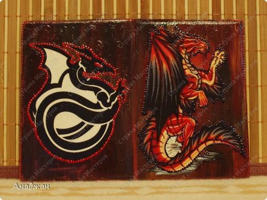 """ВАза """"Пещера Дракона"""" Стекло, имитация рисовой карты, распечатка, полная прорисовка рисунка фото 4"""