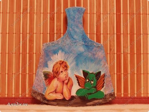 """ВАза """"Пещера Дракона"""" Стекло, имитация рисовой карты, распечатка, полная прорисовка рисунка фото 7"""