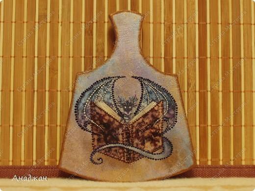 """ВАза """"Пещера Дракона"""" Стекло, имитация рисовой карты, распечатка, полная прорисовка рисунка фото 8"""