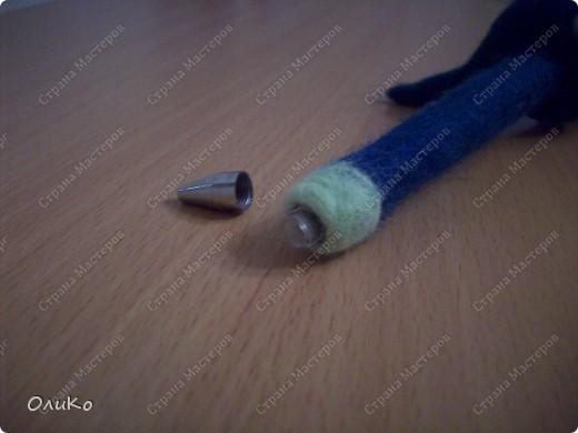 Ручки сваляны комбинированным способом...и по мокрому и иголками фото 3