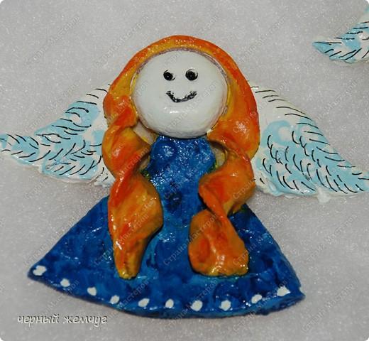 Ангелочки-магнитики из соленого теста фото 3