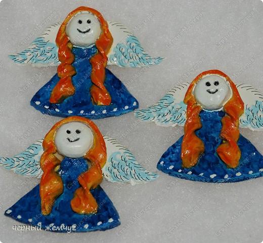 Ангелочки-магнитики из соленого теста фото 4
