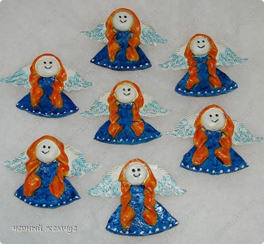 Ангелочки-магнитики из соленого теста фото 1