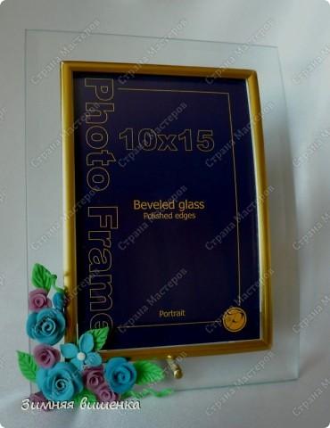 Всем привет!!!! Вот такие подарочки приготовила к дню Матери. Эта фото рамка украшена текстильными розами, крупными бусинами и парчовой лентой! фото 2