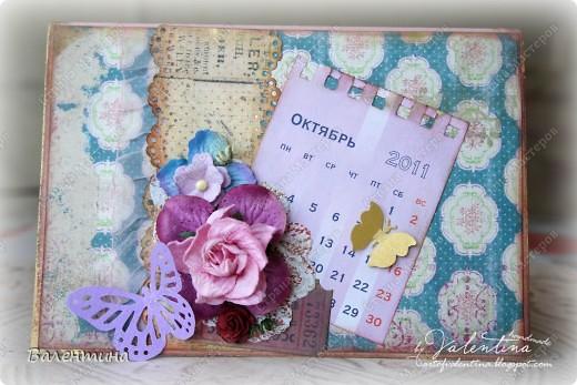 №1. Это свадебная открыточка на октябрь, с отрывным календариком (: фото 1
