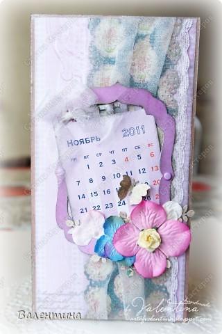 №1. Это свадебная открыточка на октябрь, с отрывным календариком (: фото 3