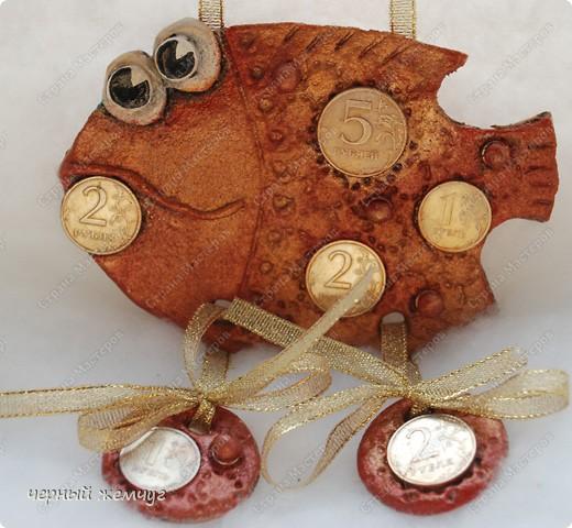 """Мои первые рыбки из соленого теста. Рыбка """"Незабутка"""" фото 4"""