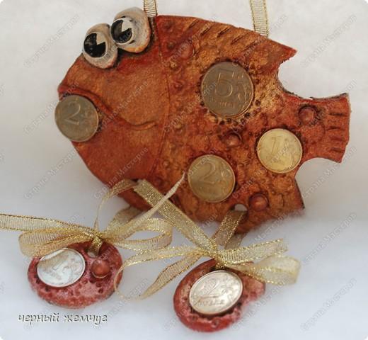 """Мои первые рыбки из соленого теста. Рыбка """"Незабутка"""" фото 5"""
