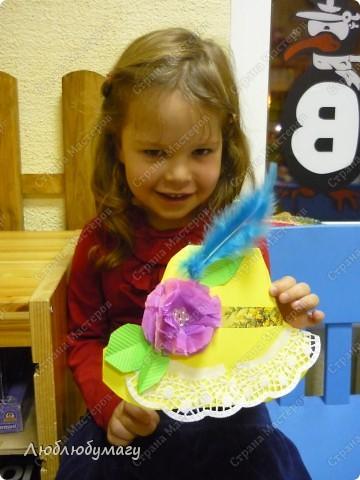 Мастерили мы с детьми 6-11 лет большие открытки-шляпы. Идея использована из блога Татьяны Просняковой.  https://stranamasterov.ru/node/8052 фото 1