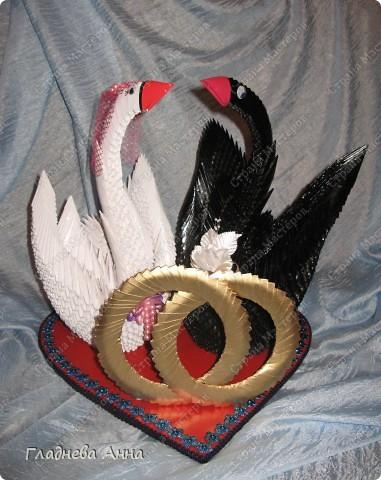 Свадебные лебеди. Работа выполнялась на заказ в подарок молодоженам. фото 1