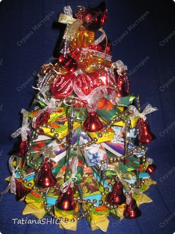 Мои Елочки-Бусы,колокольчики,сосульки,банты,конфеты. фото 5