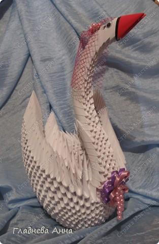 Свадебные лебеди. Работа выполнялась на заказ в подарок молодоженам. фото 3