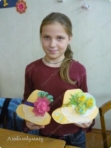 Мастерили мы с детьми 6-11 лет большие открытки-шляпы. Идея использована из блога Татьяны Просняковой.  https://stranamasterov.ru/node/8052 фото 9