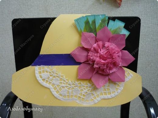 Мастерили мы с детьми 6-11 лет большие открытки-шляпы. Идея использована из блога Татьяны Просняковой.  https://stranamasterov.ru/node/8052 фото 11