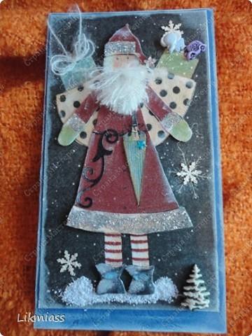 """Поставлю и этого красавца в задание СкрапМагии """"Новый год"""" Там столько красивостей, может, ему придется там по душе http://scrapmagia-ru.blogspot.com/2011/11/blog-post_23.html  Вот такой неожиданно ангельский  дед Мороз он же Санта Клаус появился на свет для маленького трогательного мальчика, который видит мир через призму своего счастливого детства, широко раскрытыми глазами . фото 12"""