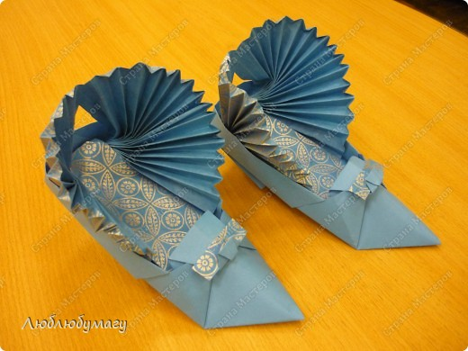 Аппликация Оригами Обувная