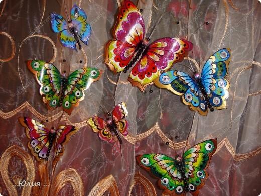 бабочки сделаны из пластиковых бутылочек... фото 2