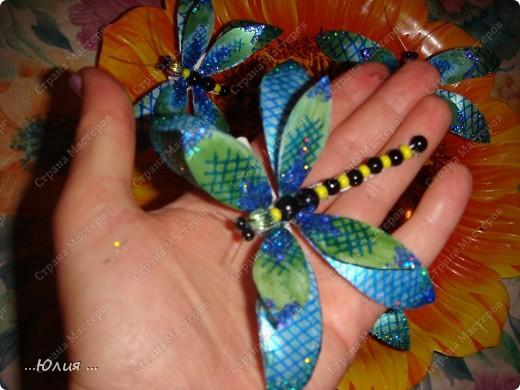 бабочки сделаны из пластиковых бутылочек... фото 5