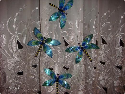 бабочки сделаны из пластиковых бутылочек... фото 4