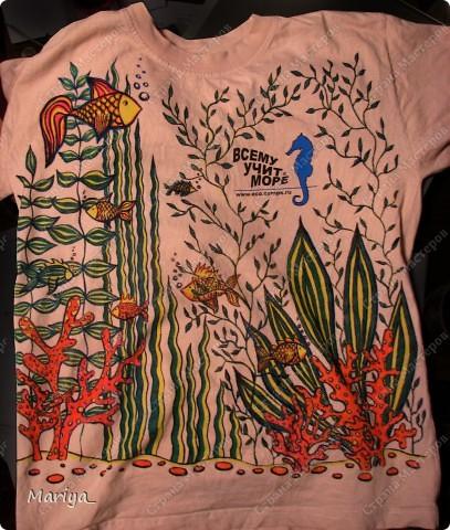 Роспись фломастерами по текстилю. фото 1