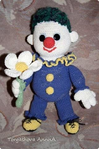 Клоун с ромашкой - это авторская работа фото 1