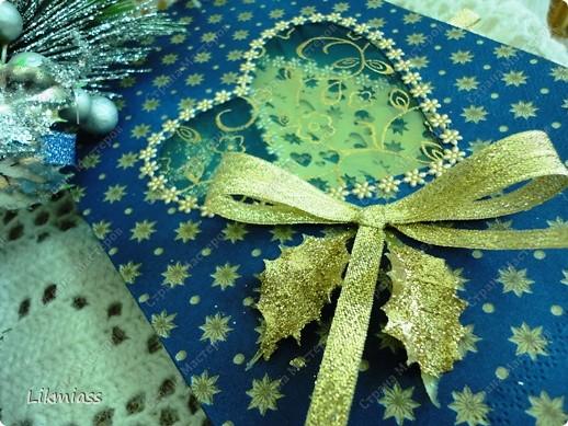Всем привет и масса наилучших предновогодних пожеланий. Сегодня я приглашаю вас в синюю новогоднюю ночь. Открываю серию открыток «Цвет новогодней ночи» В проекте пока красная, серебряная, лиловая, ванильная. Не знаю, смогу ли воплотить все в жизнь, но вот проект существует. Итак, принимайте. Синяя новогодняя ночь. фото 10