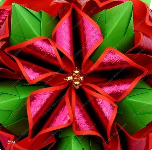не собиралась писать сегодня ещё один пост, но так сложились обстоятельства собрала кусудамы на Рождество, принимайте сначала все в кучке) фото 3