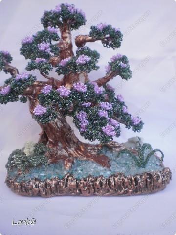 бисероплетение бонсай цветущий