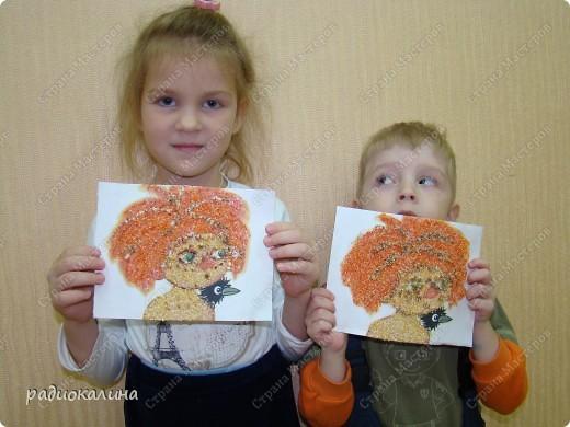 """Вот и наступил у """"Антошки """" день рождения и решили мы с ребятами подарить Антошке его портреты. Дима очень старательно выполнял задание и такой портрет у него получился. фото 6"""
